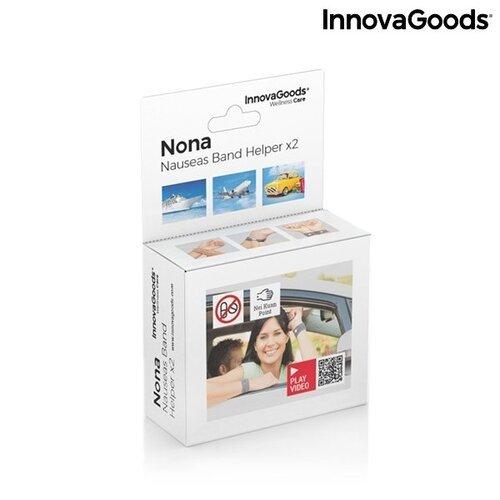 """Apyrankė nuo pykinimo su """"Nei-Kuan"""" slėgio tašku Nona InnovaGoods (2 Vnt.) Wellness Care"""