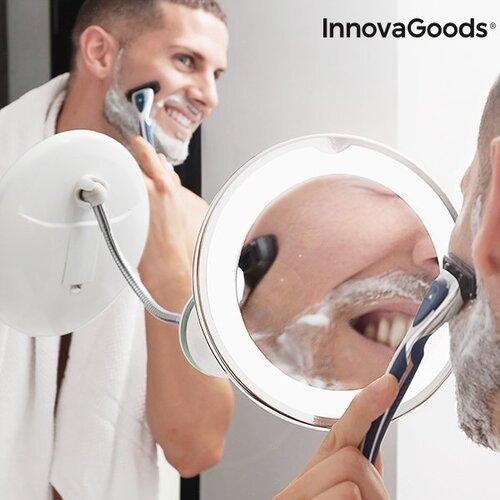 LED padidinamasis veidrodis su prisitaikančia rankena ir prilimpančiomis kojelėmis Mizoom InnovaGoods Wellness Beauté