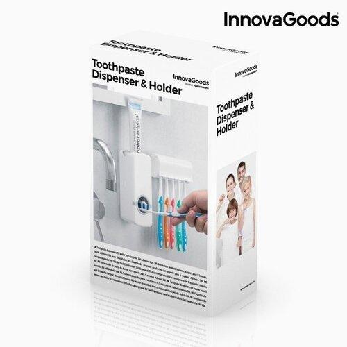 InnovaGoods Dantų pastos dozatorius su dantų šepetėlių laikikliu