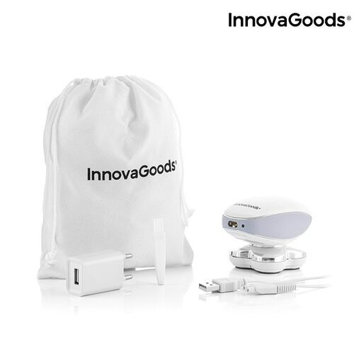 InnovaGoods Wellness Beauté 4 ašmenų įkraunamas elektrinis skustuvas su LED