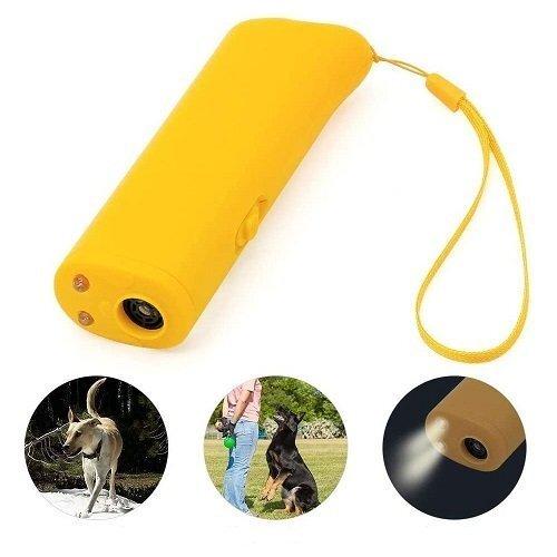 Ultragarsinis prietaisas šunų treniravimui su žibintuvėliu